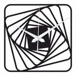 Zuaad Black Designer Wall Clock, Size: 12 X 12
