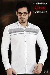 Mens Plain White Party Wear Shirts, Size: 36 To 44