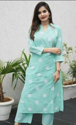 Casual Wear 3/4th Sleeve Ladies Classic Cotton Kurti, Wash Care: Handwash