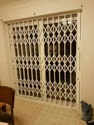 Manual White Collapsible Door, For Home