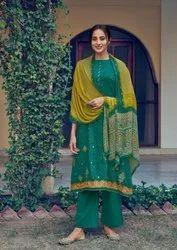 Designer Bandhej Suit Material
