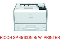 Black & White Ricoh SP 4510DN Printer, 40 Pages Per Minute