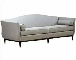 Wooden ( Frame ) Modern Three Seater Recessed Arm Sofa, Size: 5 X 4 Feet ( L X H)