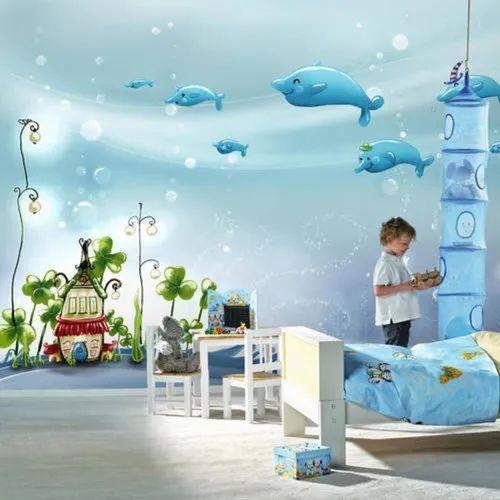 3d Children Bedroom Cartoon Wall Painting Service In Shukrawarpeth Pune Chitrasuyog Art Id 23041558488