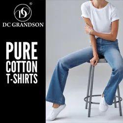 Half Sleeve Round Women T Shirt