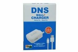 1 M White DNS Speed 02 Wall Mobile Charger