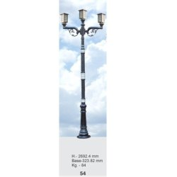 54 Decorative Cast Iron Lighting Pole