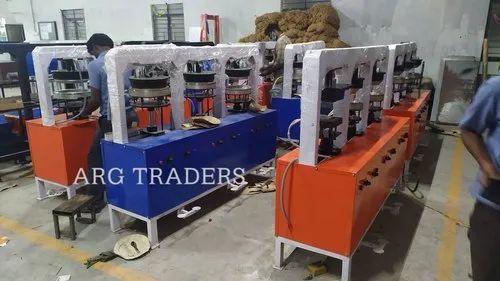 Six Die Areca Leaf Plate Making Machine
