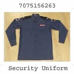 Blue Security Uniform Fabric