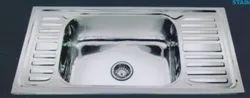 Stainless Steel Single Designer SS Kitchen Sink, 20x40x8 Cm