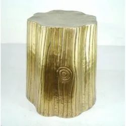 Brown Modern Brass Side Table, Number Of Drawer: Zero, Size: 7 X 14 Inch
