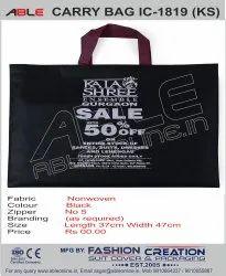 Able Non Woven Black Carry Bag, For Shopping