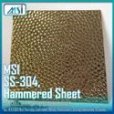 MSI SS Hammered Gold, (4x8feet 1mm Thickness) Rosegold & Silver (MSI Brand)