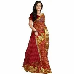 5.5 m (separate blouse piece) Casual Ladies Banarasi Silk Sarees