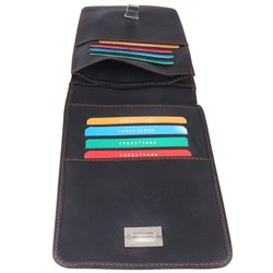 Plain Black Leather Phone Case