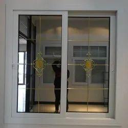 Standard White Hotel UPVC Entry Glass Door, 3 Mm