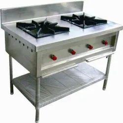LPG SS 2 Burner Range, For Commercial