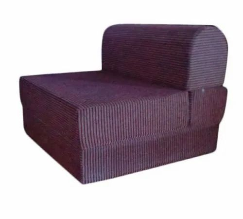 Maroon Wooden Sofa Come Bed