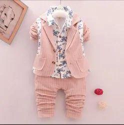 0-3 Year Cotton Kids Boys Casual Wear 3 Piece Suit
