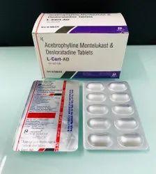 Acebrophylline Montelukast  & Desloratadine Tablets