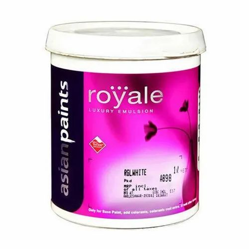 High Gloss Rgl White Asian Paints Royale Luxury Emulsion For Interior Walls Packaging Size 1 L Rs 260 Litre Id 14857770655