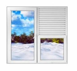 Hinged Modern Lesso Casement Combination Window With Louver, Size/Dimension: Upto 8 Feet