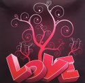 Satin Love Printed Cushion Covers