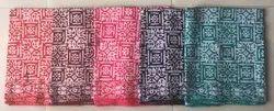 Pure Cotton Batik Single Colour Nighty Piece, Multiple Colours