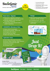 Bio Cleaning Solution For Biotoilet, Septic Tank, Porta Cabin