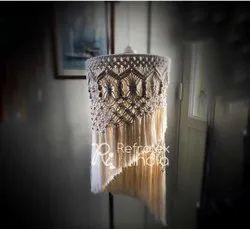Decorative Macrame Lampshade