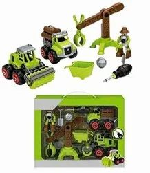 Assembly Toy Farm Truck, Crane Construction Set, Building Vehicle Play Set with Screwdriver Toy