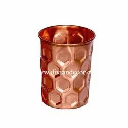 Pure Copper Hammered Design Glass