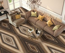 Ceramic Double Charged Kajaria Vitrified Floor Tile, Thickness: 10 mm, Size: 600x1200 mm