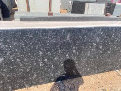 Polished Black Granite Slab, Thickness: 15 mm