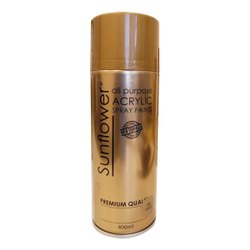 Sunflower Acrylic Gold Spray Paint, For Metal, Packaging Type: Can