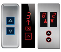 Steel Elevator Landing Operating Panel