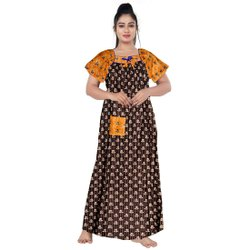 Casual Wear Girls Cotton Nightwear, Size: UPTO 44 XXL