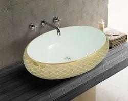 Ceramic Table Top Designer Wash Basin, For Bathroom