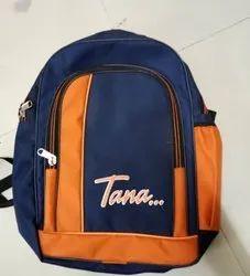Polyester Blue Orange School Bag, Bag Capacity: 15 Liter