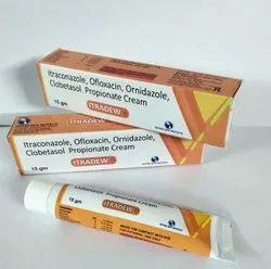 Itraconazole, Ofloxacin, Ornidazole, Clobetasol, Propionate Cream