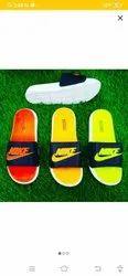 Mixed color Rubber Men's fashionable flip flops