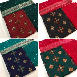 Unstitched Bandhej Dress Materials