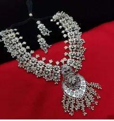 Oxidized Silver Jewellery Set