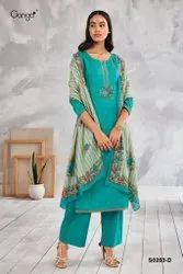 Cotton Semi-Stitched Salwar Suit