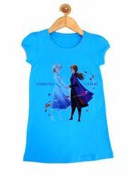 Half Sleeves Kids Blue T Shirt