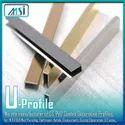 U-Profile (6x6x6mm) Gold, Rose Gold, Black, Silver, Champagne Antique Hairline & Antique Copper