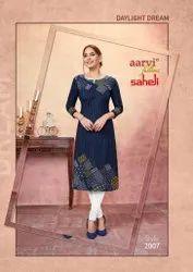 Aarvi Fashion Saheli Vol 10 Series 2001-2015 Pure Cotton Kurti