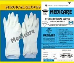 White Sterile Surgical Gloves