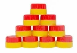 HDPE Red And Yellow 36mm Double CTC Bottle Cap, 3.28 Gm, Box
