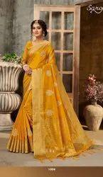 Yellow Color Cotton Saree